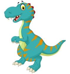 funny dinosaur cartoon for you design vector image vector image