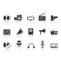 media tools vector image