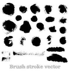 Set of real round brush strokes vector image vector image