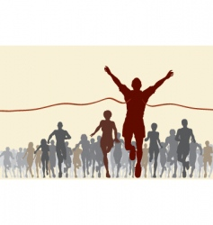 finishing line vector image vector image