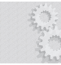 Gears Background Under construction blueprint vector image vector image