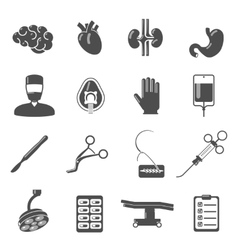 Surgery Icons Black vector image vector image