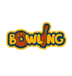 Bright Bowling Sign vector image