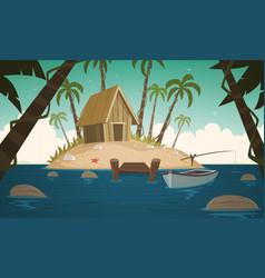 small tropical island vector image