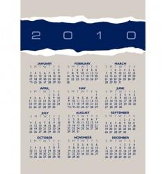 2010 torn paper calendar vector