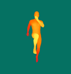 3d running man human body design for sport vector
