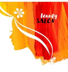 Acrylic beautiful girl of woman beauty salon vector