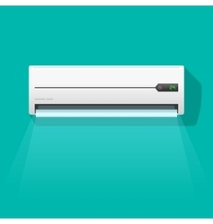 Air conditioner isolated on vector image