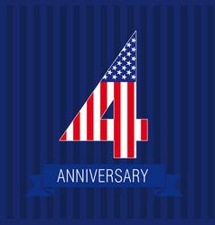 anniversary4usa vector image