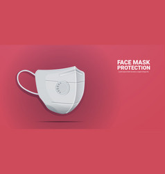 Antiviral medical respiratory face mask protection vector
