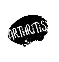 Arthritis rubber stamp vector