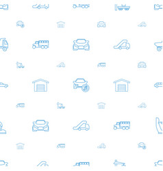 automobile icons pattern seamless white background vector image