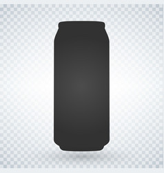 beer or soda can icon on light background vector image