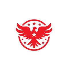 Bird with stars logo concept vector