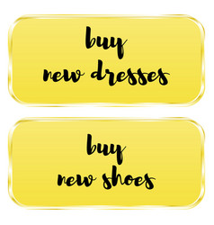 button to buy new dresses vector image