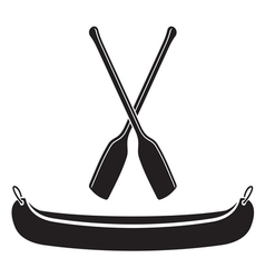 Canoe with paddle vector