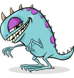 cartoon funny monster vector image