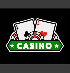 casino poker template icon gambling chips vector image