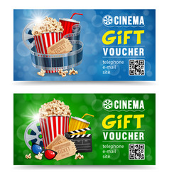 Cinema gift voucher vector