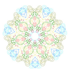 circular symmetric mandala on white background of vector image