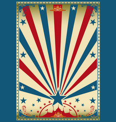 Circus vintage red blue poster vector