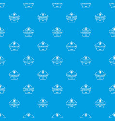 clothes button dress pattern seamless blue vector image