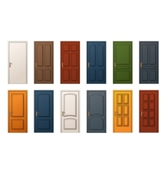 Colorful Doors Collection vector image