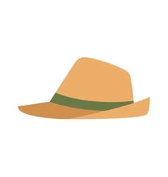 Cowboy sheriff leather hat vector