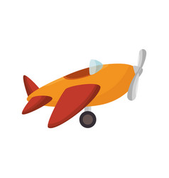 cute airplane toy icon vector image