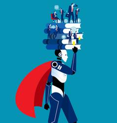 development robots for marketing business vector image