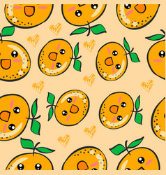 Doodle of orange fruit collection vector