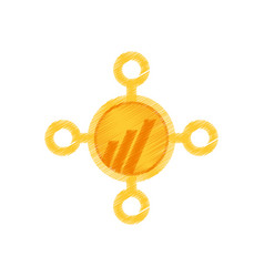 Drawing worldcoin web icon vector