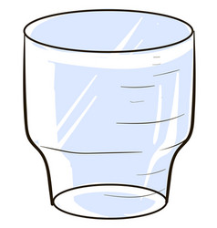 empty glass on white background vector image