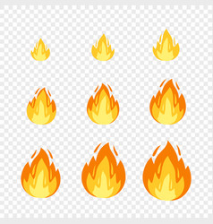 fire sprites for animation vector image
