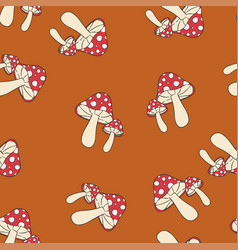 Fly-agaric pattern seamless pantone vector