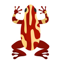 Frog icon cartoon style vector