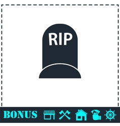 Grave icon flat vector