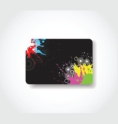 grunge gift card vector image vector image