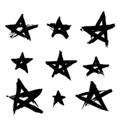 hand drawn stars vector image