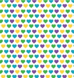 Heart colorful pattern vector