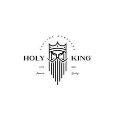 holy bearded king logo vector image