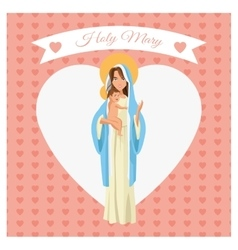 Holy mary cartoon design vector