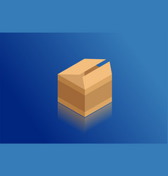 isometric cardboard box vector image