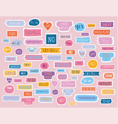 large collection tags for a fashion planner vector image