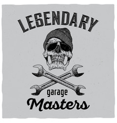 Legendary garage masters poster vector