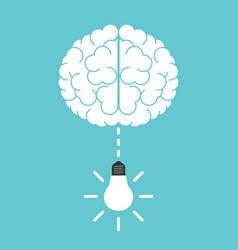lightbulb falling from brain vector image