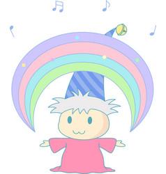 magical rainbow vector image