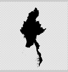 map myanmar isolated black vector image