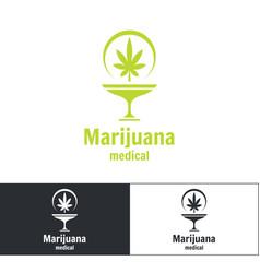medical marijuana logo vector image