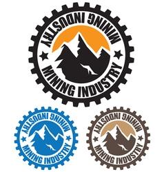 mining industry vector image
